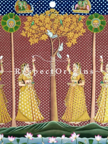 Buy Horizontal Pichwai Painting of Shani poojan in 36 x 47 in size  Respect Origins
