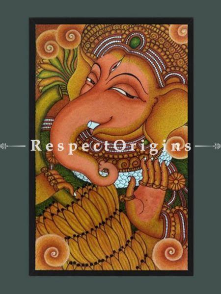 Ganesha; Kerala Mural Art; 13X18 inches; Chuvarchithram|RespectOrigins