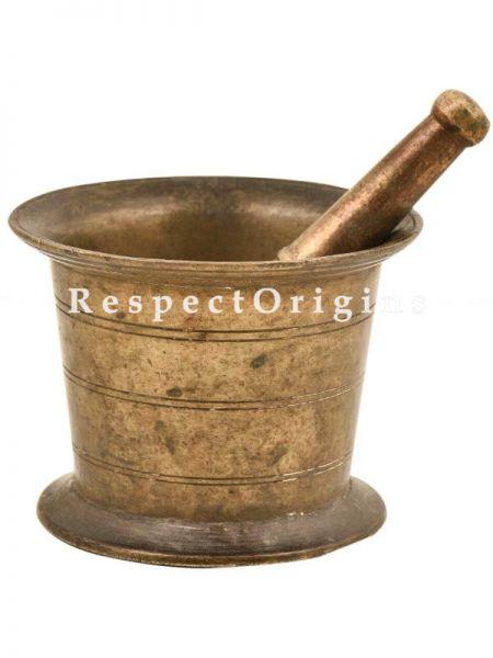 Buy Indian Brass Mortar And Pestle At RespectOrigins.com