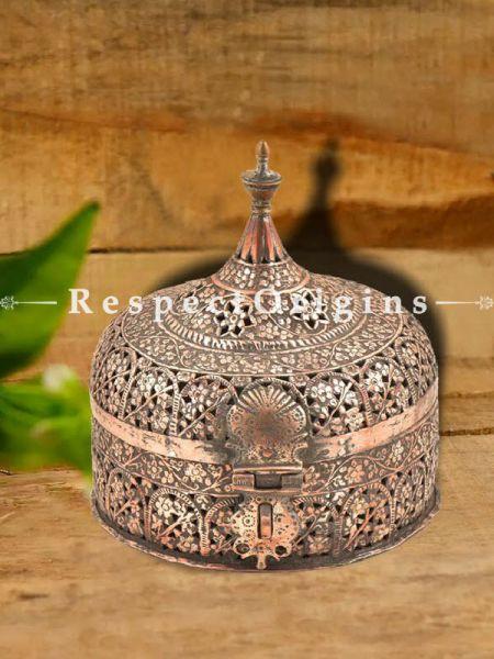 Buy Indian Stupa Form Copper Paandaan or Betal nut Box At RespectOrigins.com
