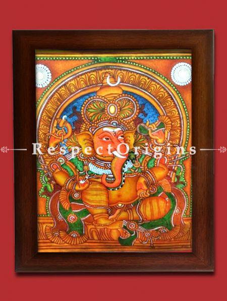Ganesha; Kerala Mural Art; 20 X 23 inches; Chuvarchithram|RespectOrigins