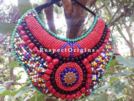 Buy Multicolored Beads; Ladhaki Necklace; Beaded Chocker at RespectOrigins.com