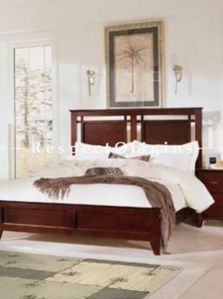 Buy Johnson Bedroom Set; Double Bed, Night Stand, Dresser with Mirror, Storage Bench in Solid Wood At RespectOrigins.com