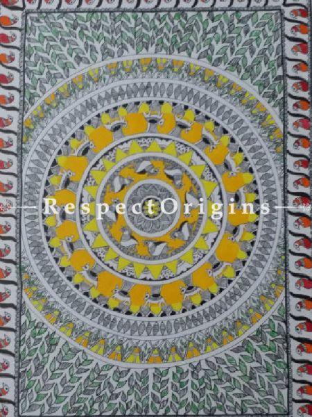 Original art Art Collection Jungle Madhubani Art