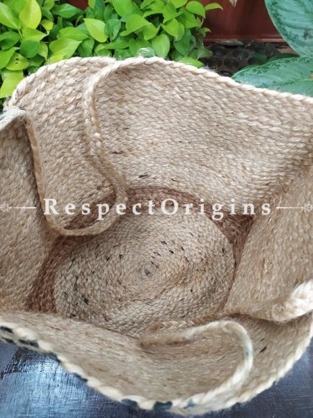 Buy Red and Brown Handwoven Organic Jute Braided Shopping or Beach Hand Bag;At RespectOrigins