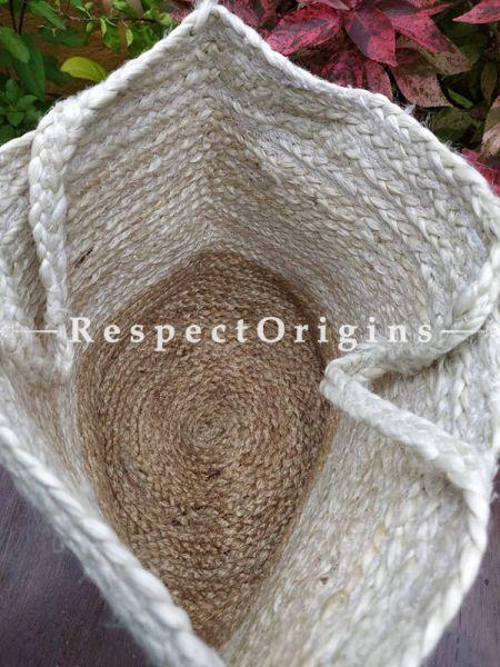 Buy Natural Brown Handwoven Organic Jute Braided Shopping or Beach Hand Bag;At RespectOrigins