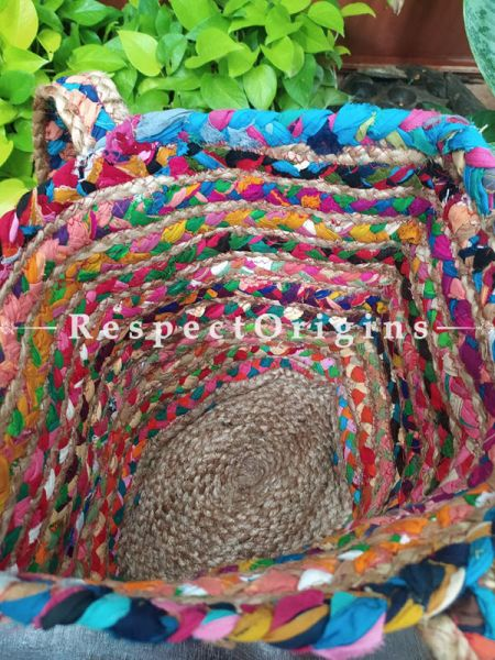 Buy Chemical Free Hand Braided Multi-Colour Jute Cotton Boho Bag with Shoulder Straps;At RespectOrigins