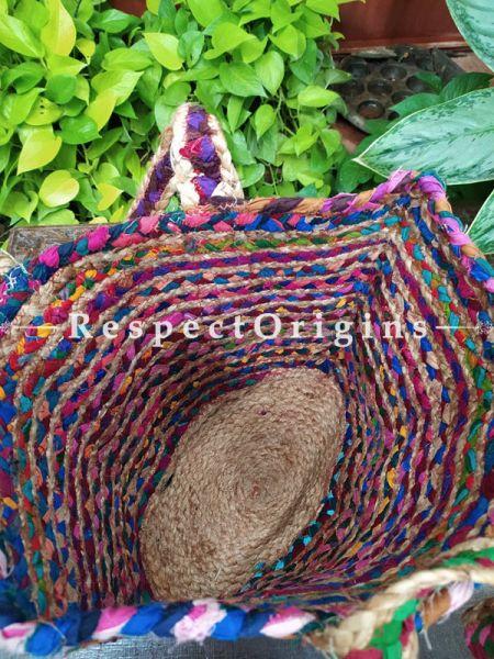 Buy Multi-Colour Hand Braided Jute Cotton Boho Bag with Shoulder Straps;At RespectOrigins