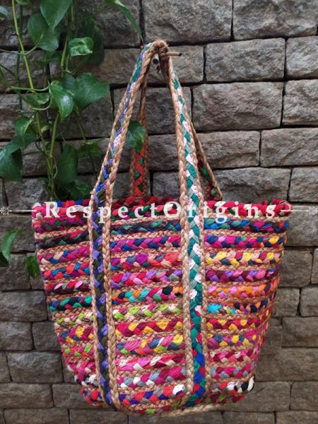Buy Style and Soul. Braided Jute Cotton  Boho Bag with Shoulder Straps;At RespectOrigins