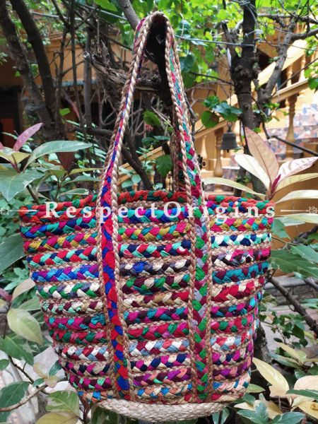 Buy Bold and Beautiful! Braided Jute Cotton Boho Bag with Shoulder Straps.;At RespectOrigins
