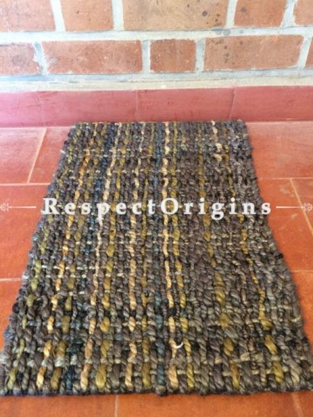 Eco-friendly Handwoven organic Jute Floor mat 26X17, RespectOrigins