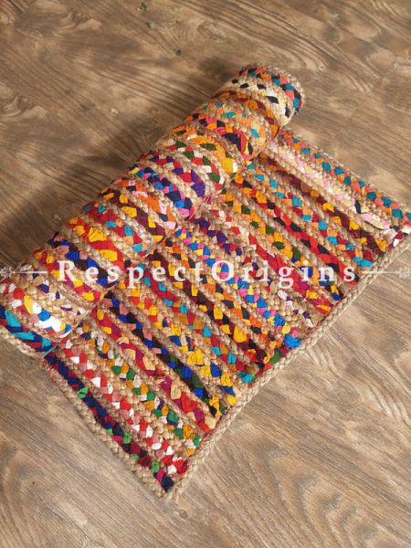 Buy Hand braidered Multicolor Jute Floor Mats 24 x 20 Inches;At RespectOrigins
