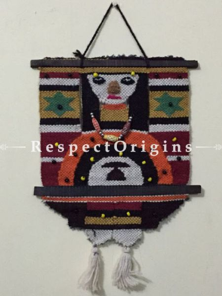 Handcrafted Tribal Lady Jute Wall Hanging; H18xW13 Inches; RespectOrigins.com
