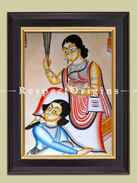 Traditional|Art Works|Henpacked Husband|Kalighat Paintings|RespectOrigins