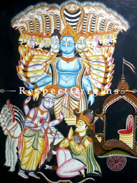 Traditional|Art Works|Vishnu|Kalighat Paintings|RespectOrigins