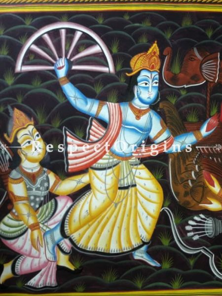 Traditional|Art Works|Mahabharat|Kalighat Paintings at RespectOrigins