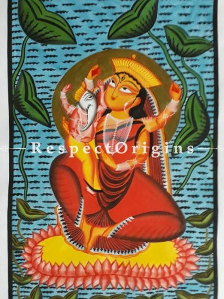 Buy Kalighat Painting of Goddess Kamalakameni In 22x15 Size |RespectOrigins