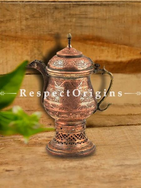 Buy Hand Engraved Kashmiri Copper Samovar Kettle At RespectOrigins.com