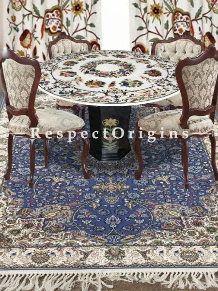 Buy Grand oriental Kashmiri Silk Carpet in 4x6 Ft At RespectOriigns.com
