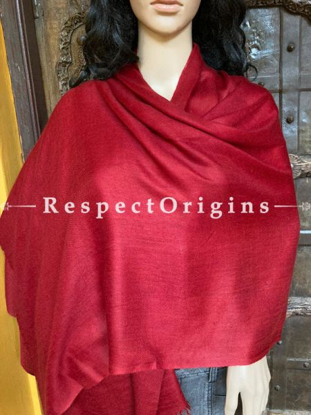 Pomegranate Red Pashmina Stole; 80 x 30 Inches; RespectOrigins.com