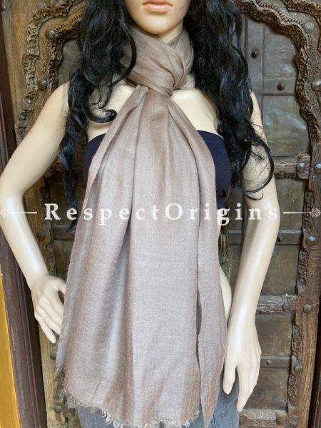 Solid Gray Pashmina Stole; 80 x 30 Inches; RespectOrigins.com