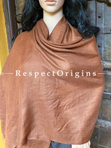 Solid Brown Pashmina Stole; 80 x 30 Inches; RespectOrigins.com