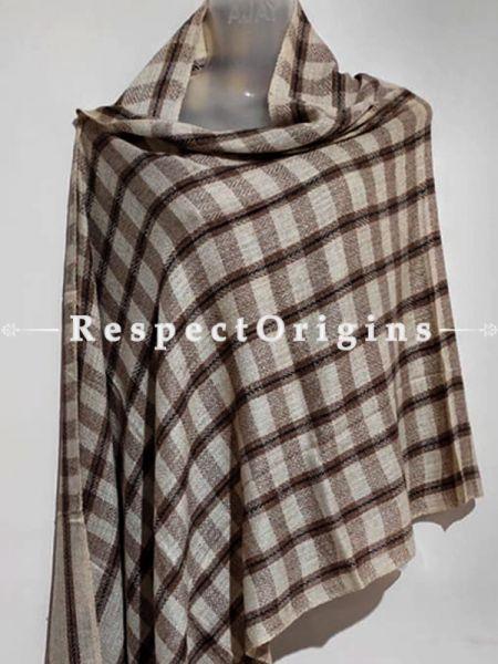 Unisex Men or Women's Brown Woolen Shawl Stole Throw Blanket Gift; RespectOrigins.com