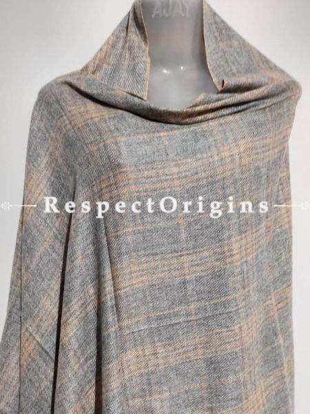 Unisex Men or Women's Woolen Shawl Stole Throw Blanket Gift; Grey; RespectOrigins.com