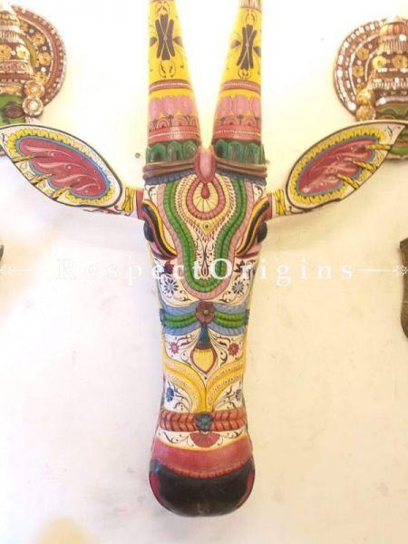 Buy Kerala Hand Painted Cowhead 20 Inches At RespectOrigins.com