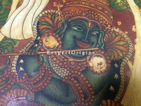 Vastraharan; Kerala Mural Painting; 43x22 Inches