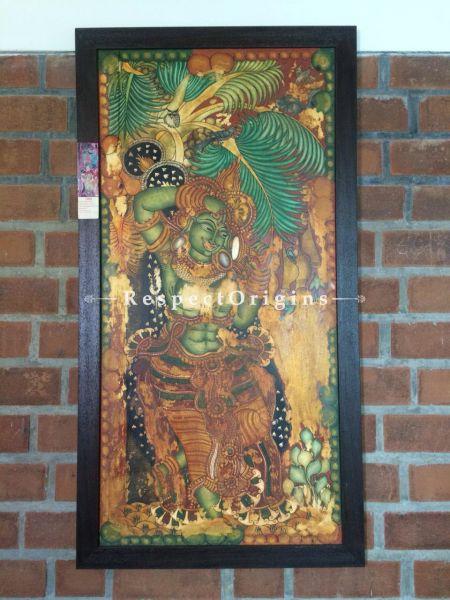 Buy Vertical Kerala Mural Painting of Sundara Yakshini in 43x23 Inches |RespectOrigins