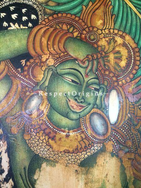 Kerala Mural Painting of Sundara Yakshini; 43x23 Inches
