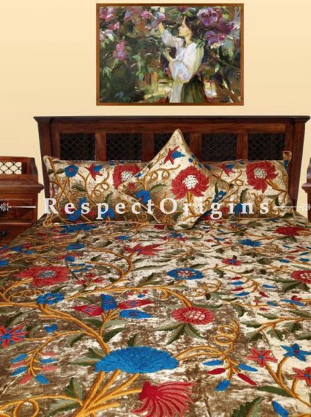 Buy Arthur Country Wood Bed With 2 Night Stands; Handcrafted Iron Latticework At RespectOrigins.com