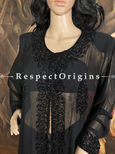 Beautiful Georgette Long Evening Jacket with Beadwork; RespectOrigins.com