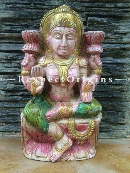 Buy Lakshmi Idol or Figurine; Tamil Nadu Wood Craft, 9x3x5 Ft At RespectOrigins.com