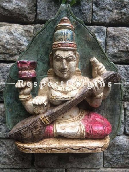 Buy Saraswati Wooden Idol at RespectOrigins.com