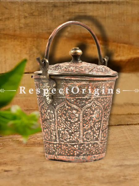 Buy Large copper Bucket With handle and Lid At RespectOrigins.com