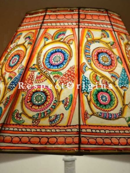 Buy Multicolored Floral; Leather Lamp shade; 12 in At RespectOrigins.com
