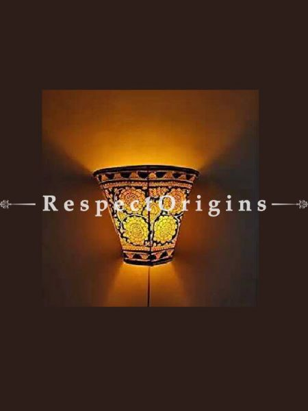 Buy Floral Design Hand Painted Wall Lampshade; Leather; 5 in At RespectOrigins.com