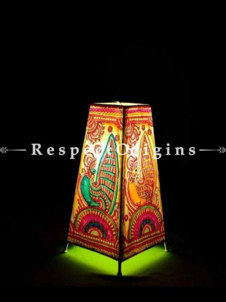 Buy Dancing Peacock & Flowers; Leather Lamp Shade; 12 in At RespectOrigins.com