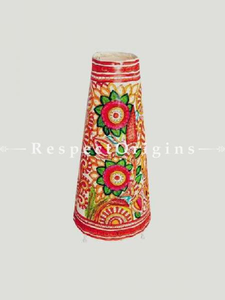 Buy Hand Painted Standing Lampshade; Leather; 25 in At RespectOrigins.com