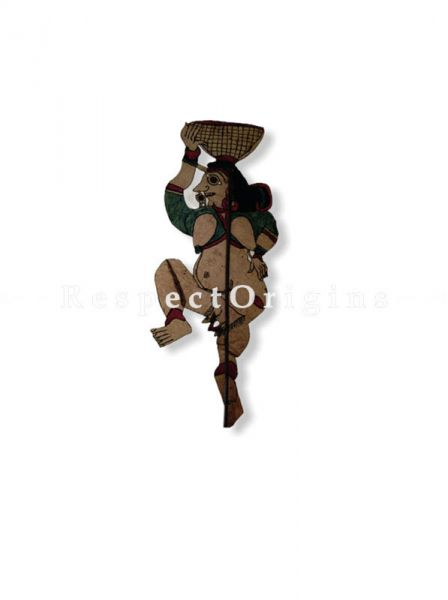 Tribal Man Puppet in Leather Aboriginal Wall Art; Hand Painted Puppetry.; RespectOrigins.com