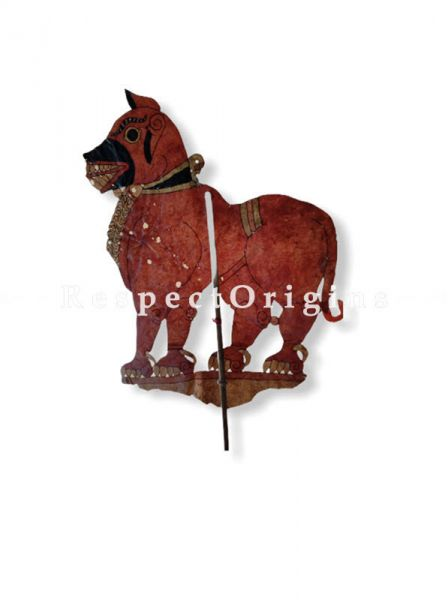 Horse Puppet in Leather Aboriginal Wall Art; Hand Painted Puppetry.; RespectOrigins.com
