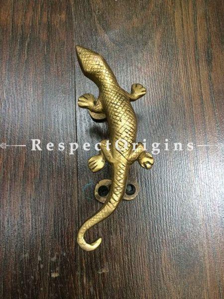 Buy Lizard Shape Brass Pull Door Handle; Pair; Antique Finish Indian Decor; 6 in; Handcrafted Door Accessories At RespectOrigins.com