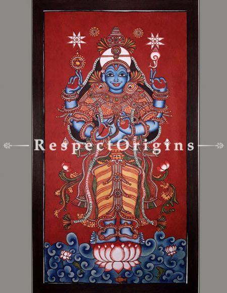 Buy Lord Dhanwantari -Kerala Mural Art God of Medicine- Painting 44x23;RespectOrigins