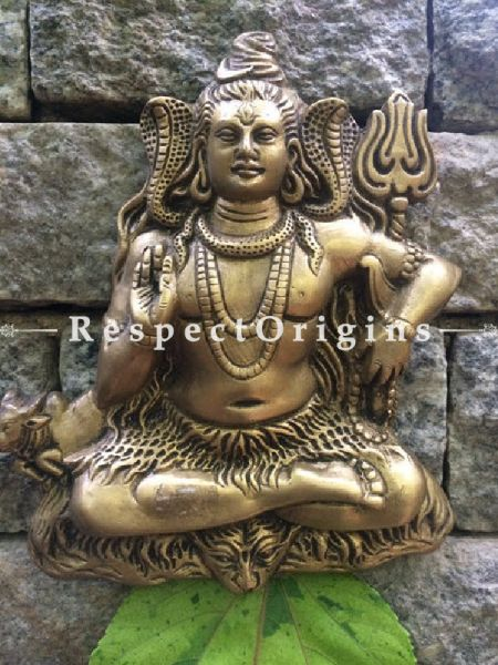 Wall Hanging Lord shiva; Brass at RespectOrigins.com