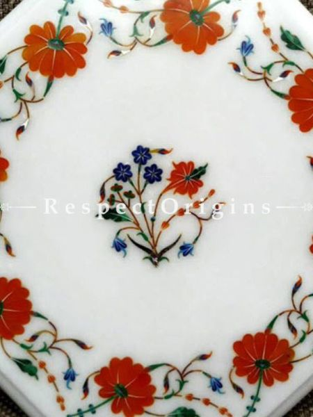 Buy Lovely Octagon Marble inlay or Pietra Dura Marble Cocktail or Occasional Table Top At RespectOrigins.com