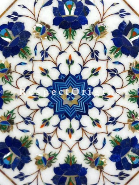 Buy Attractive Octagon Marble inlay or Pietra Dura Marble Cocktail or Occasional Table Top At RespectOrigins.com