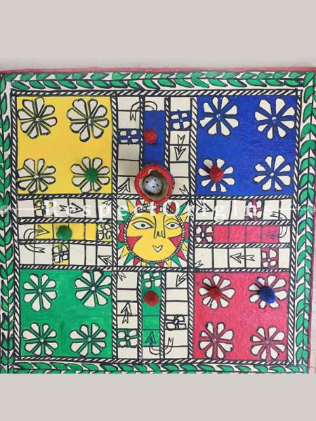 Buy Traditional Indian Game Ludo; Madhubani Art Dice  At RespectOrigins.com