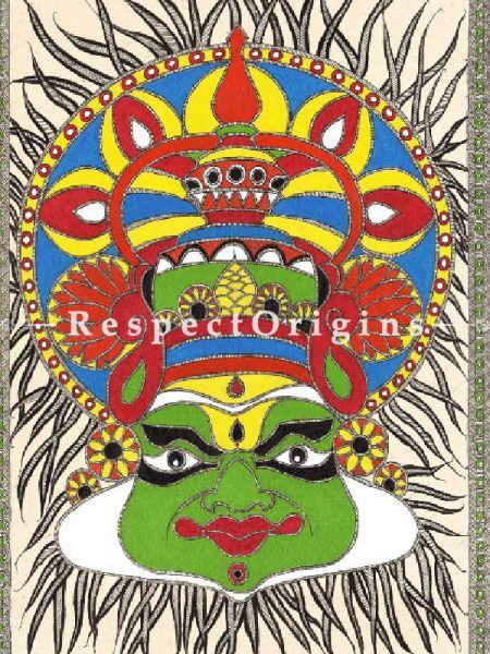 Original art Art Collection Madhubani kathakali